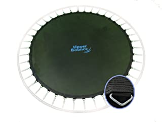Upper Bounce Replacement Jumping Mat,  Fits 12 ft Round Trampoline Frame with 72 V-Hooks,  Using 5.5 Springs