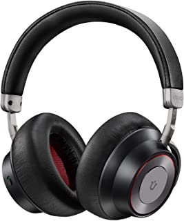 Noise Cancelling Headphones, Utaxo Bluetooth Headphones with Mic Wireless Headphones Over Ear [2019 Upgraded] Hi-Fi Sound/Deep Bass, Quick Charge 30H Playtime for Travel Work TV PC Cellphone
