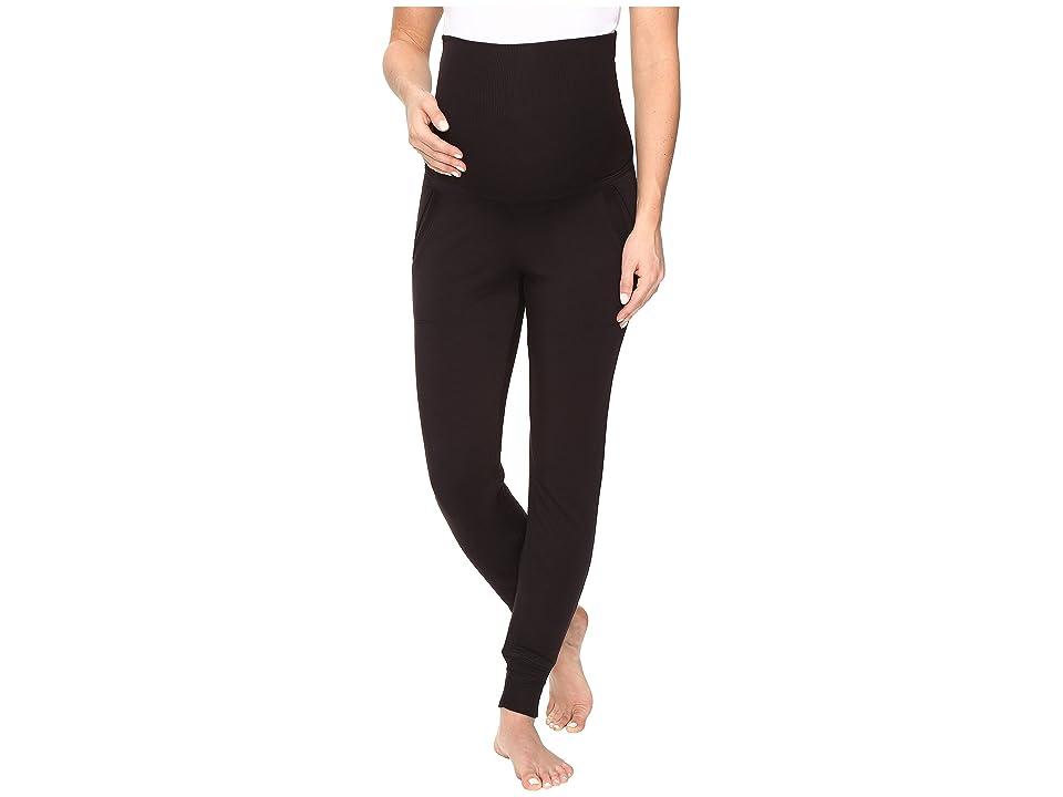 Beyond Yoga Cozy Fleece Maternity Sweatpants (Black) Women
