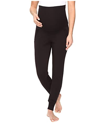 Beyond Yoga Cozy Fleece Maternity Sweatpants (Black) Women