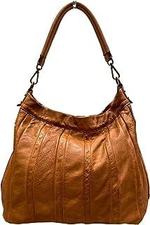 BZNA Bag Lennja cognac Italy Designer Damen Handtasche Schultertasche Tasche Leder Shopper Neu