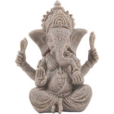OMEM Fish Tank Decorations Ganesh Buddha Statue Aquarium Ornaments