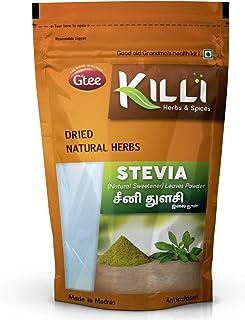 KILLI Stevia   Natural Sweetner   Seeni Thulasi Leaves Powder, 100g