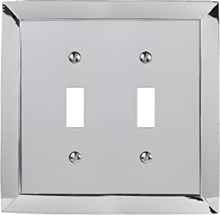 Amerelle Studio Double Toggle Cast Metal Wallplate in Polished Chrome