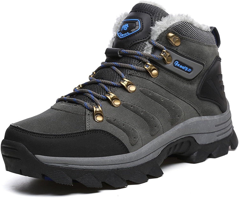 BERTERI Men's and Women's Hiker Leather Winter Waterproof Hiking Boot Outdoor Backpacking shoes