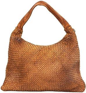 BZNA Bag Mattia cognac Braun Italy Designer Damen Handtasche Schultertasche Tasche Leder Shopper Neu