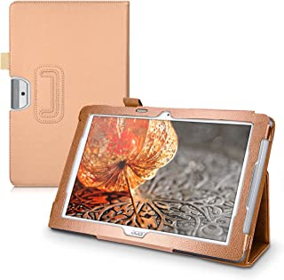 kwmobile Case for Acer Iconia One 10 (B3-A30) - Slim PU Leather Protective Tablet Cover with Stand Feature - Rose Gold