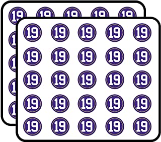 Round #19 Adam Thielen (Player Vikings Number Minnesota) Sticker for Scrapbooking, Calendars, Arts, Kids DIY Crafts, Album, Bullet Journals 50 Pack