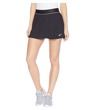 Nike Court Dry Skirt Flouncy (Black/White/Black) Women
