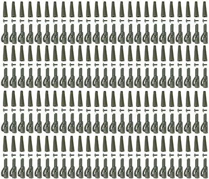 WHK 50pcs 100pcs Clips de Plomo de Alta Resistencia Aparejos de pl/ástico Conector Cauchos de Cola Terminal de Pesca Aparejo Accesorios de Pesca