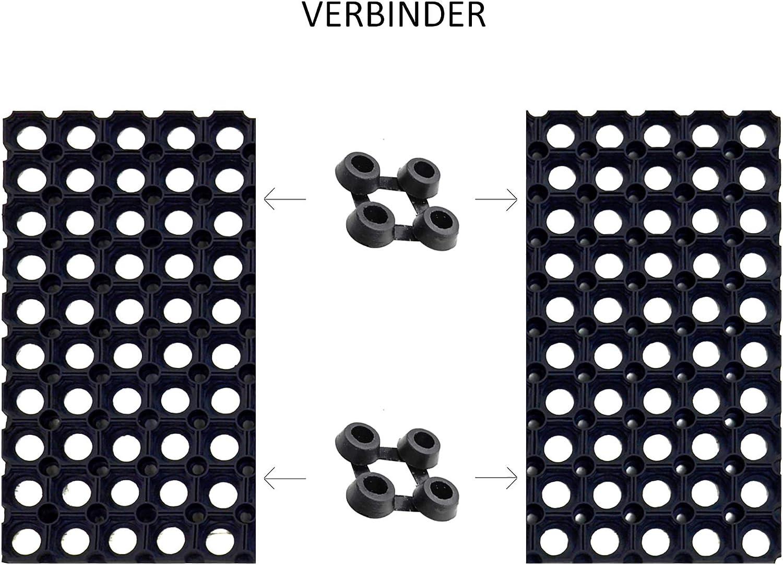 Ringgummimatten in 22 mm St/ärke Gummimatte Schmutzfangmatte Ringgummimatte Ringmatte Verbinder 7 Gr/ö/ßen Verlegung in Bodenvertiefung m/öglich Mit Verbindungselementen erweiterbar 22mm, 40x60