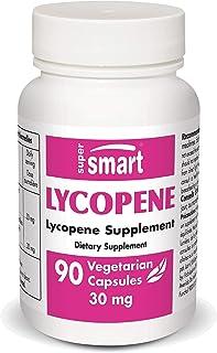Supersmart - Lycopene 30 mg Per Serving (Lyc-O-Mato®) - Extract of Tomato Lycopene Standardized to 10% Lycopene - Raises L...