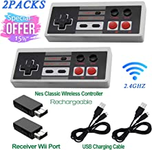 $29 » 2 Pack Rechargeable NES Classic Mini Wireless Controller -TURBO/HOME EDITION-Rapid Buttons Edition for Nes Wii Gaming Syst...