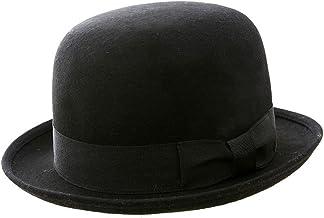 Sombrero Bowler 100% fieltro de lana clásico redondo negro