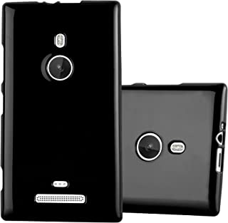 Cadorabo Case Works with Nokia Lumia 925 in Jelly Black – Shockproof and Scratch Resistant TPU Silicone Cover – Ultra Slim Protective Gel Shell Bumper Back Skin
