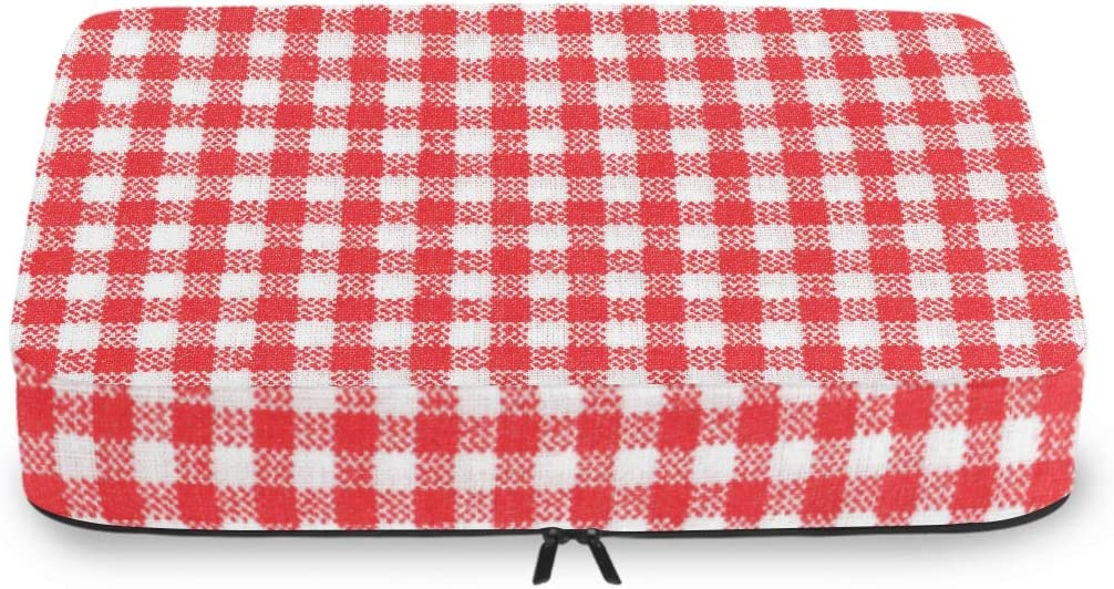 Travel Packing Cubes Red White Cube discount Tablecloth Or Texture Picnic unisex