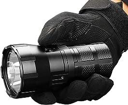 Imagent RT90 zaklamp met lange reikwijdte, 1308 meter, LED-zaklamp, oplaadbaar, met maximaal vermogen van 4800 lumen, gebr...