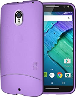 Moto X Pure Edition Case, TUDIA Full-Matte ARCH TPU Bumper Protective Case for Moto X Pure Edition (Moto X Style) (Purple)