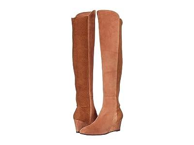 Stuart Weitzman Blaire Wedge Boot (Cappuccino Suede/Sueded Elastic) Women