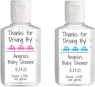 Drive By Baby Shower Hand Sanitizer Label | Sheet of 20 Personalized Labels | Drive Thru Baby Shower Favor | Personalized ...