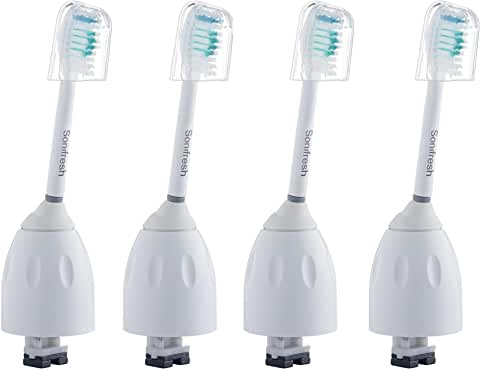 4-Pack Sonifresh HX7001 Toothbrush Replacement Heads for Philips Sonicare E-Series