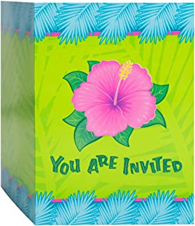 Tropical Bloom Luau Invitations, 8ct