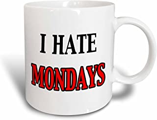 3dRose 149799_1 I I Hate Mondays Mug, 11 oz, Ceramic