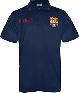 FC Barcelona Official Football Soccer Gift Mens Crest Polo Shirt Navy Blue
