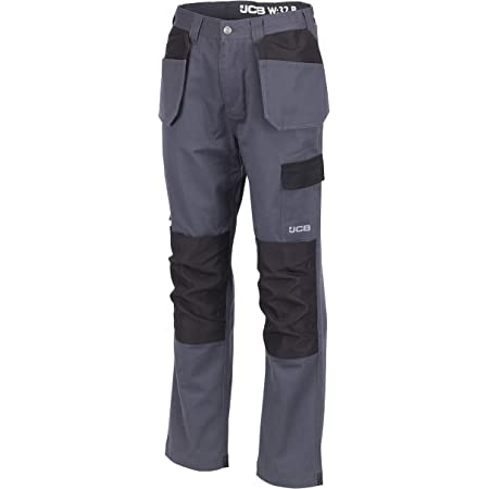 JCB Workwear RipStop Men Work Trousers Pants Multi Pockets Short Long Length Sz