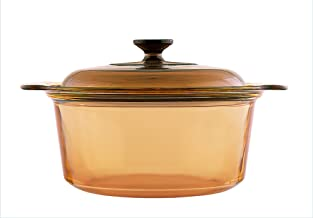 Visions 3739 Amber Stock Pot, Brown, Glass