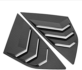 Rear Window Louvers, Carbon Fiber Style Rear Window Louver Shutter Vent Fits for Ford Focus ST RS MK3