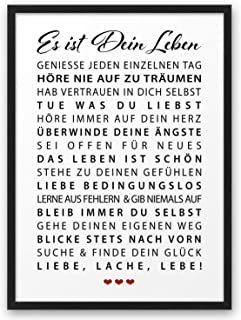 Es ist Dein Leben ABOUKI Kunstdruck Poster Bild Geschenk-Idee für Familie Junge Mädchen Sohn Tochter Mann Frau Freund Freu...