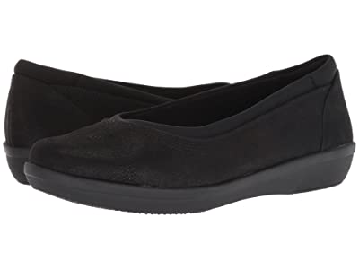 Clarks Ayla Low (Black Synthetic Nubuck) Women