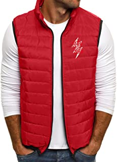 QUINTRA Mens Gilets Quilted Body Warmer Light-Weight Hooded Sleeveless Jacket Outdoor Waistcoats Men's Autumn Winter Zippe...