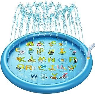 SnailBrother (Upgraded 2021 Version) Splash Pad Water Sprinkler Mat for Kids, 170cm Summer Wading Pool Outdoor Play Mat, I...