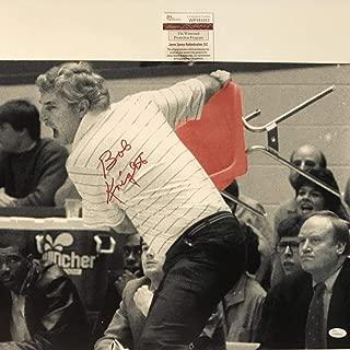 Autographed/Signed Bobby Bob Knight Indiana Hoosiers Horizontal 16x20 College Basketball Photo JSA COA