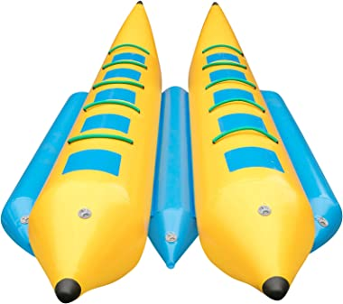 Happybuy Banana Water Boat 10 Riders Raft for Boating 1543lbs Capacity, Banana Towable Tube Comfortable Seat, 16.4'x7' Inflat