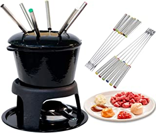 Fondue Forks Set of 12, Premium Stainless Steel Chocolate Melter with Heat Resistant Handle, for Cheese Meat Chocolate Des...