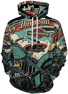 Harley Davidson Shirt Mens Anime Felpa Con Cappuccio 3D Stampato Viso Palestra Camicia Vestiti Comfy Abbigliamento Vestito...
