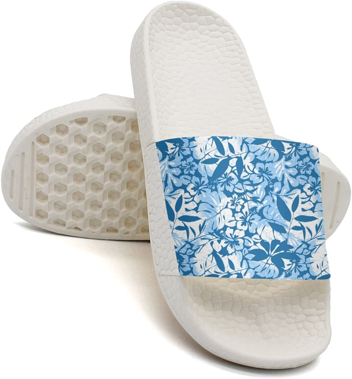 Qiopw rtw Bathroom Shower Non-Slip Sandal bluee Tropical Indoor Slipper shoes for Womens Ladies