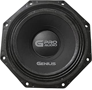 "Genius GPRO-M098 8"" 400 Watts-Max Midbass Neodymium Car Audio Speaker 4-Ohms Paper Cone"