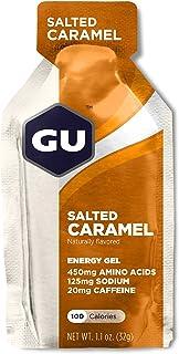 GU Energy Original Sports Nutrition Energy Gel - 24 Count Box (Salted Caramel)