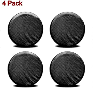 Ximan Rigging 4 Pieces Set Tire Covers Sun UV Protect Waterproof Aluminum Film Cotton Lining for 27