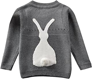 453c99e84 Toddler Baby Boy Girl Knit Sweater Cute Bunny Unisex Kid Pullover Sweatshirt