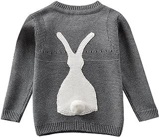 Toddler Baby Boy Girl Knit Sweater Cute Bunny Unisex Kid Pullover Sweatshirt