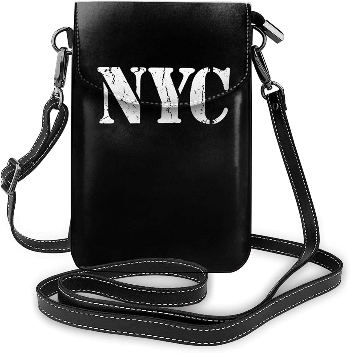 PLHDHESE Los Angeles Mall NYC Logo Women's Clearance SALE Limited time Leather Phone Cell Crossbo Small Purse