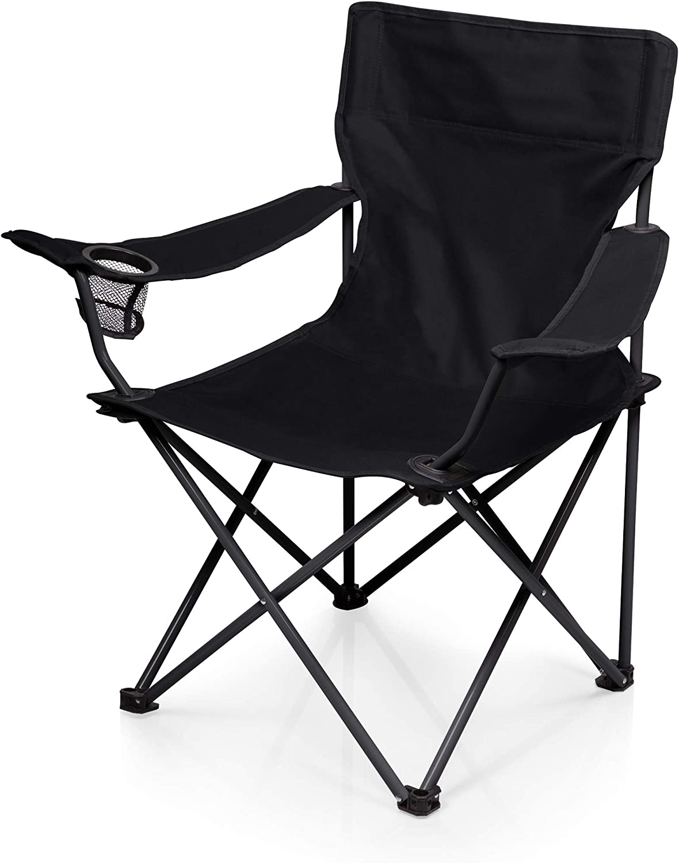 Amazon.com : ONIVA - a Picnic Time Brand PTZ Portable Folding Camp Chair,  Black ,8 x 8 x 35 : Sports & Outdoors