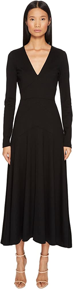 DSQUARED2 - Wool Jersey Grunge Long Sleeve Dress