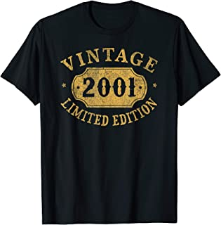 2001 18 years old 18th B-day Limited Birthday Gift T-Shirt