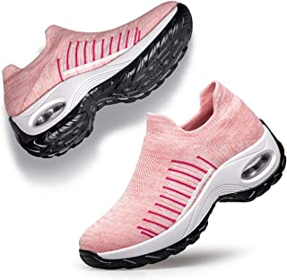 Belilent Womens Sneakers Fashion Socks Nursing Shoes Comfortable Lightweight Slip on Shoes